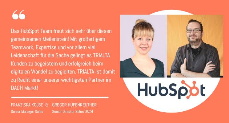 TRIALTA Diamond Solutions Partner HubSpot, Statement HubSpot
