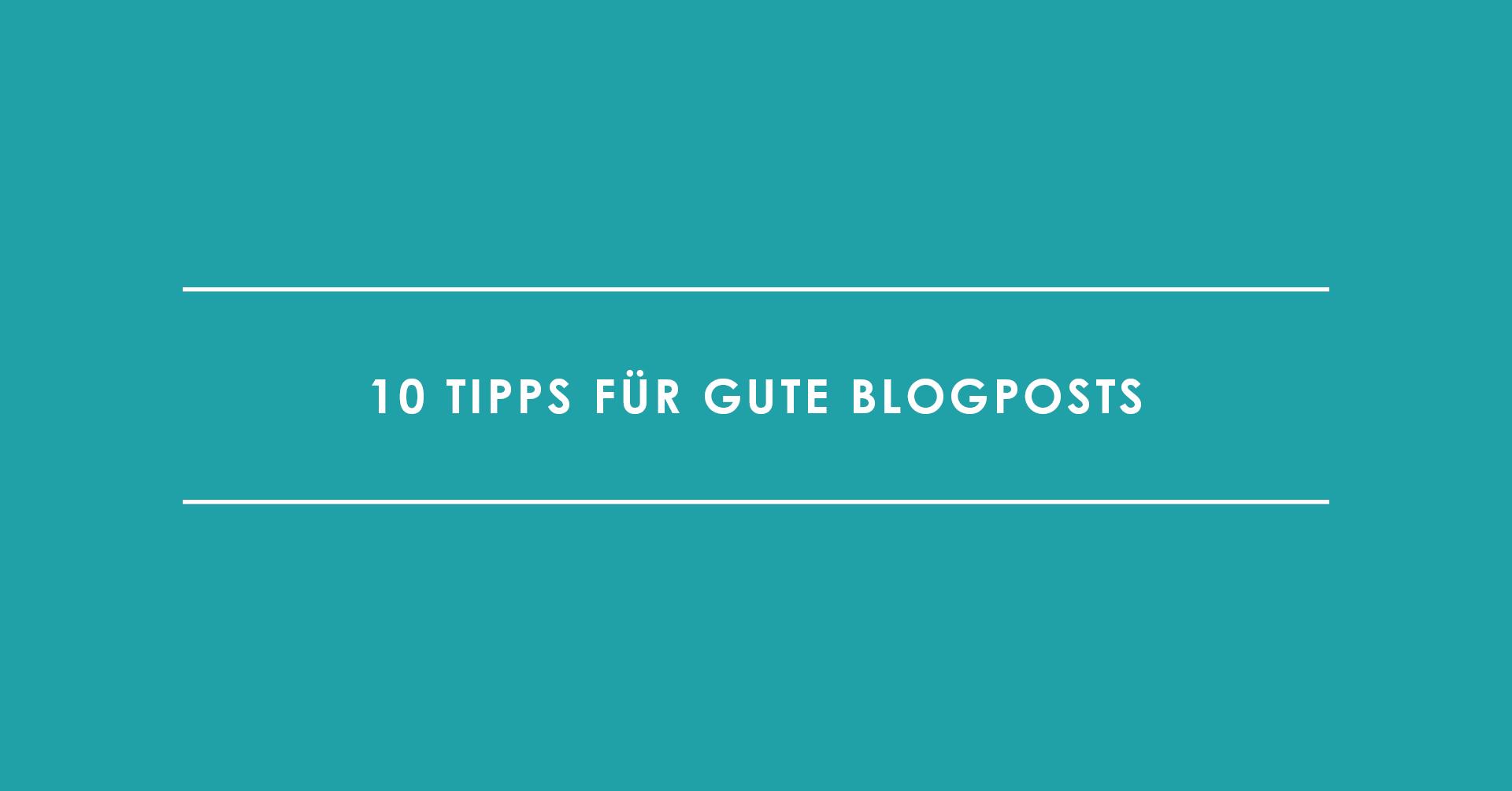 TRIALTA 10 Tipps für gute Blogposts