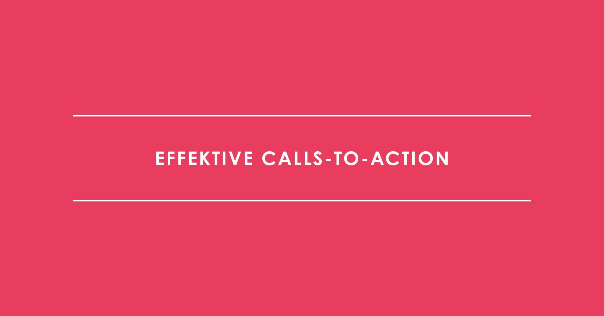 Effektive Calls-to-Action