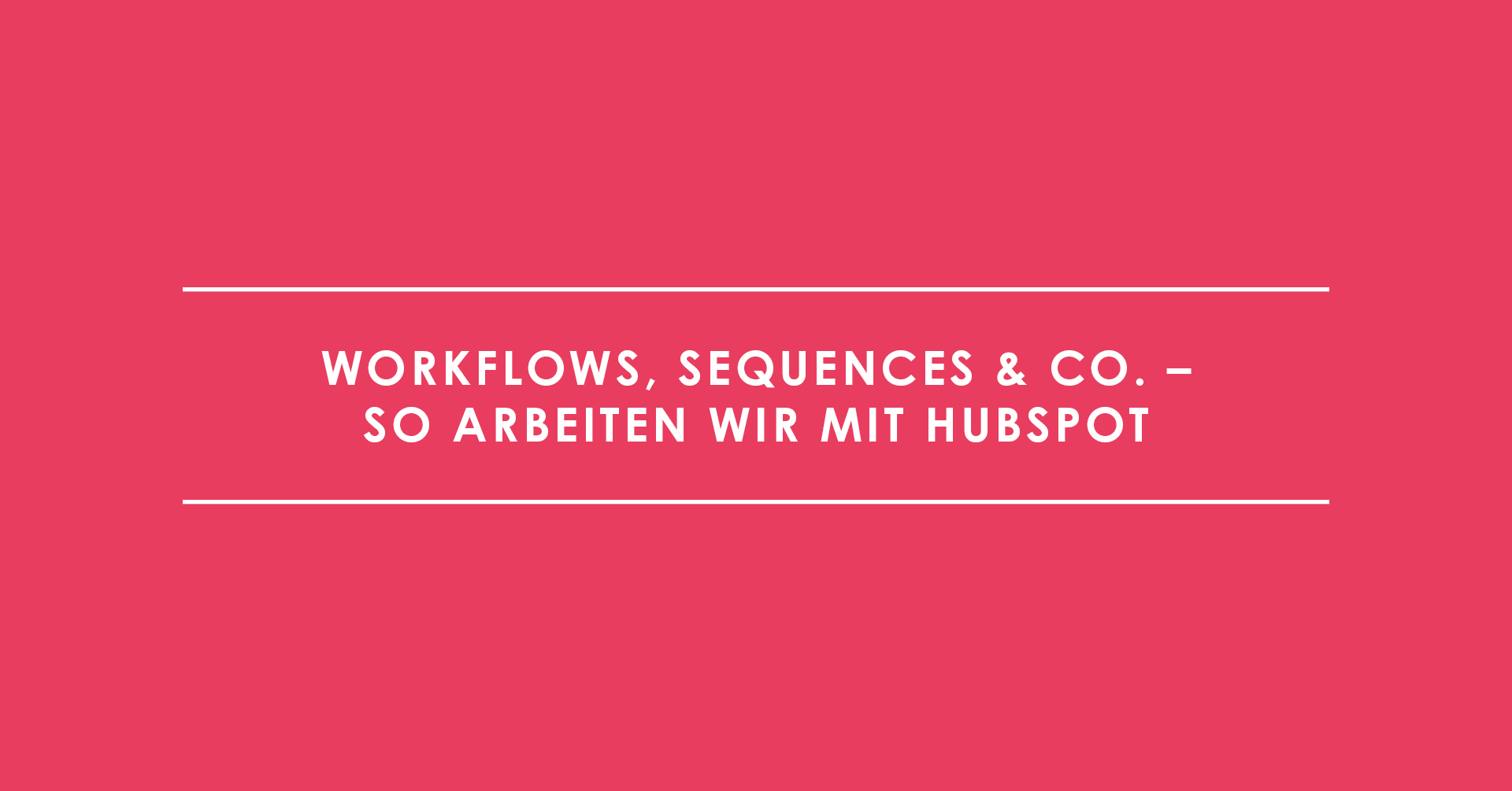 Workflows, Sequences & Co. – so arbeiten wir mit HubSpot