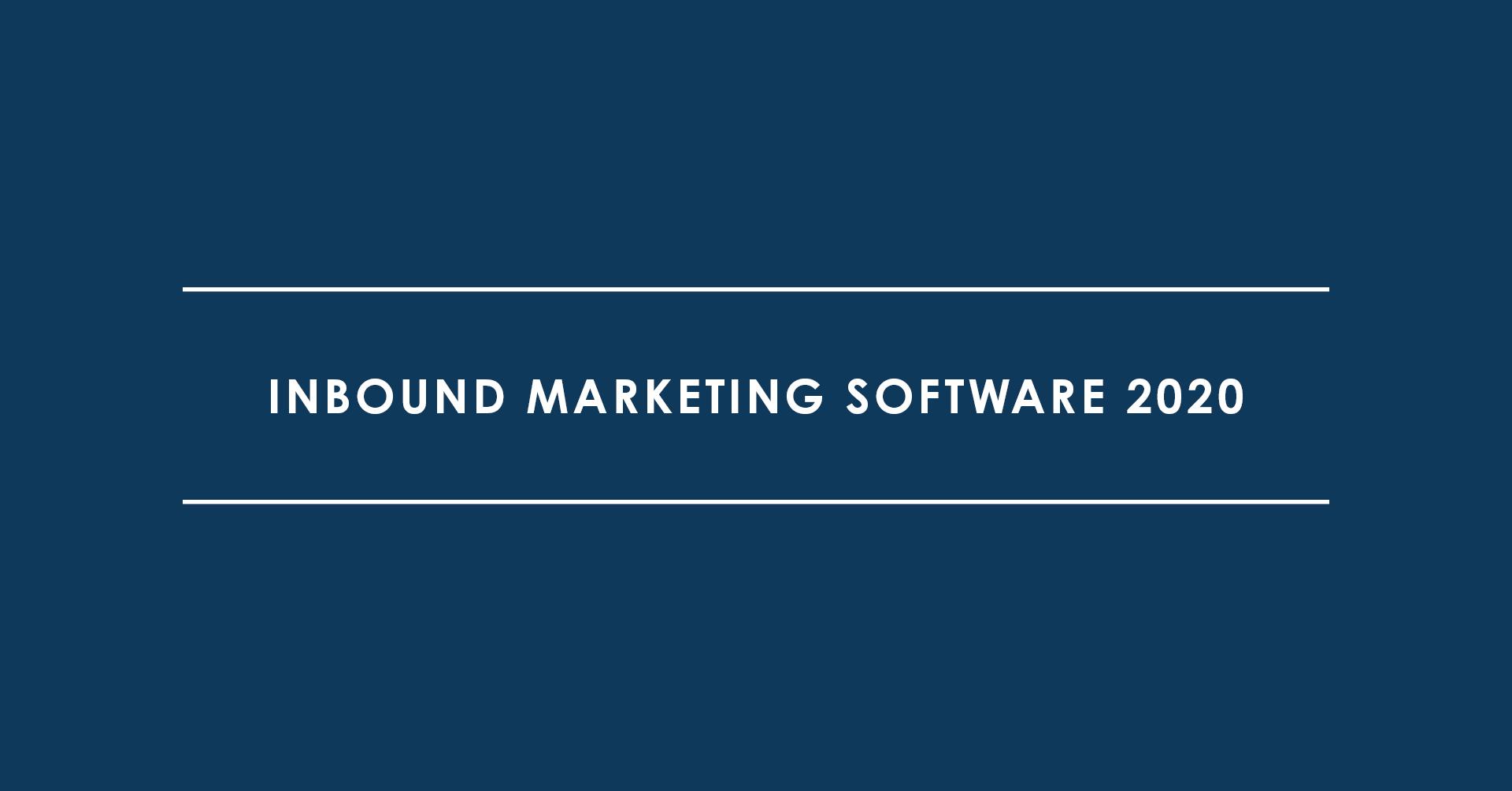 Inbound Marketing Software 2020