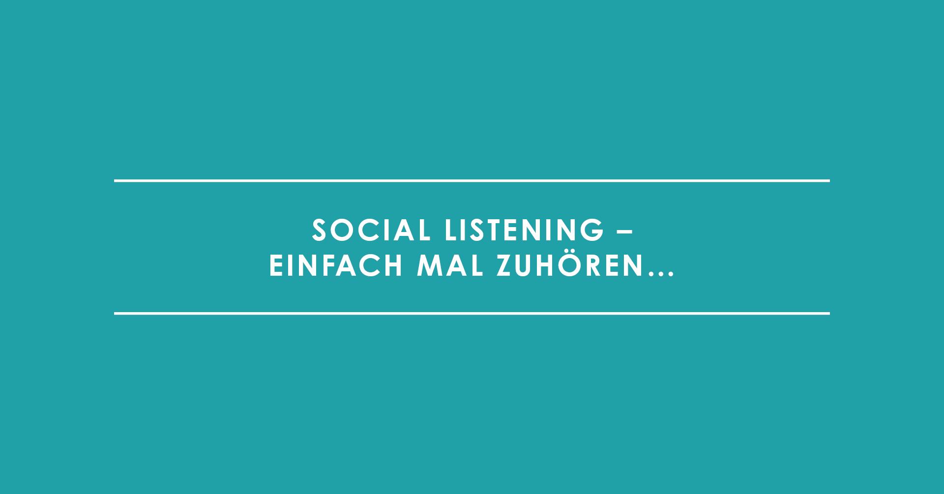 TRIALTA Social Listening. Einfach mal zuhören