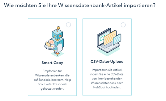 Import Wissensdatenbank HubSpot Product Update