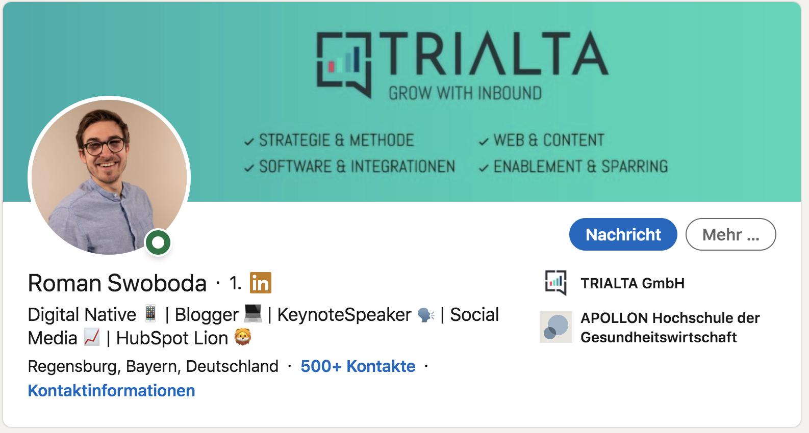 Aktuelles Profil um Social Selling Index in LinkedIn zu steigern