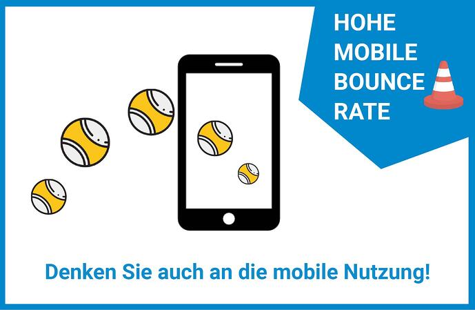 Website Leadgenerierung Mobile Bounce Rate