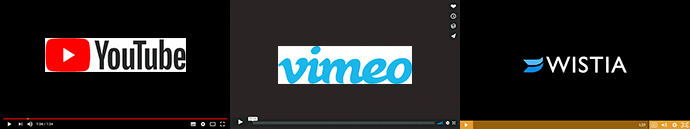 Player YouTube, Vimeo, Wistia