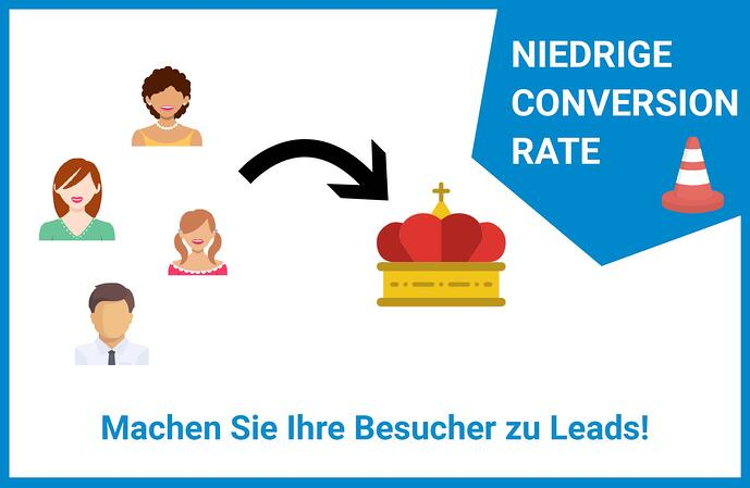 Website Leadgenerierung Conversion Rate