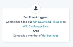 Workflow-Trigger-Einstellungen