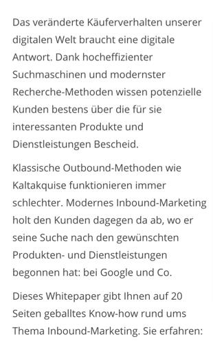 Beispieltext für unser Whitepaper Inbound-Marketing