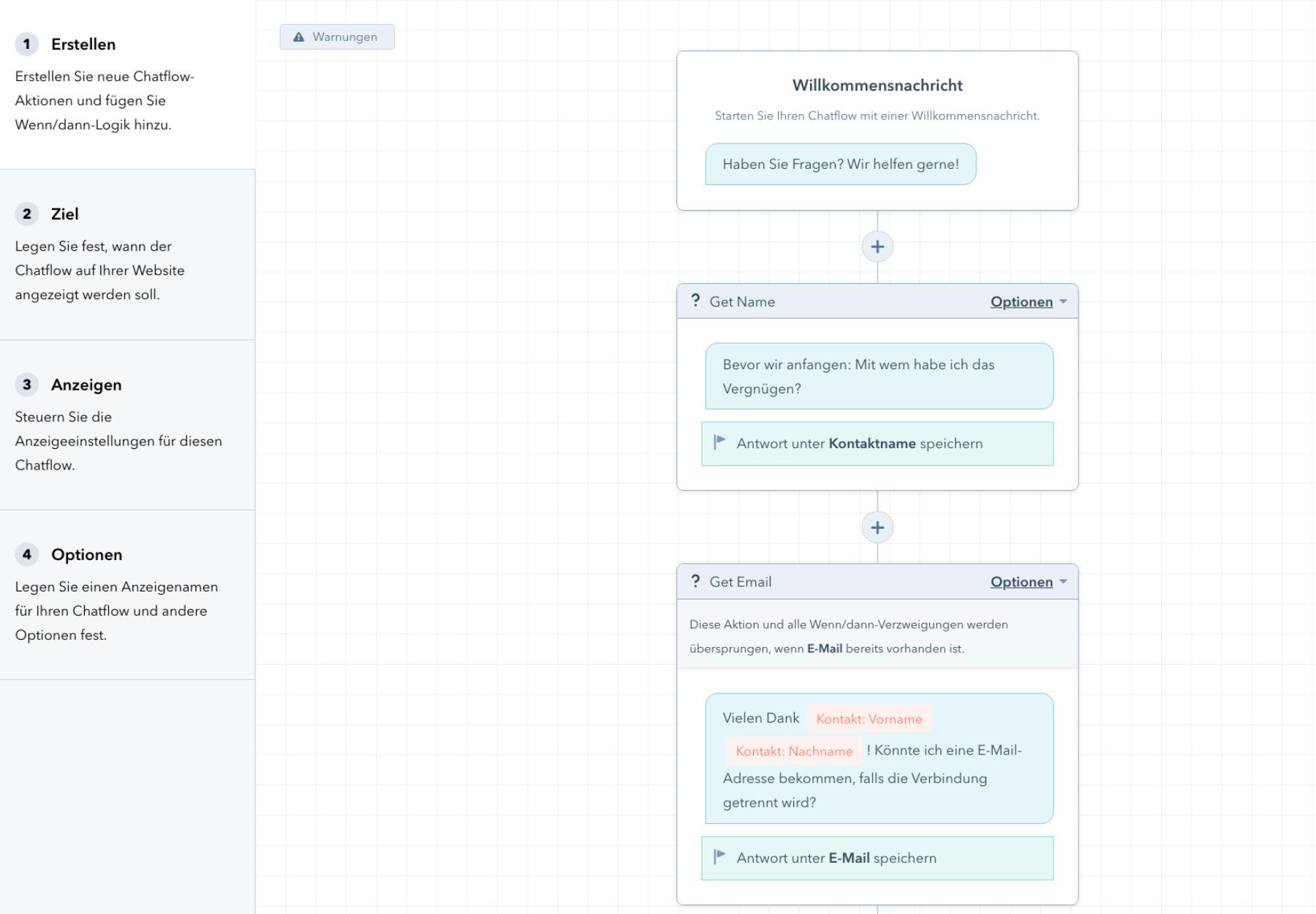 Chatflow erstellen HubSpot