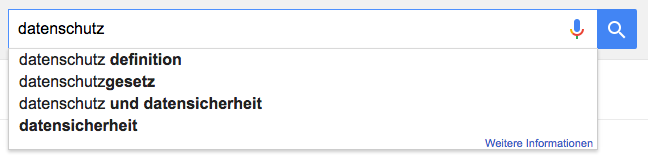 Keyword Suche: Google Suggest