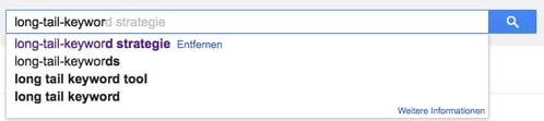 Google Autovervollständigung