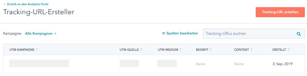 HubSpot Tracking URL Erstellen