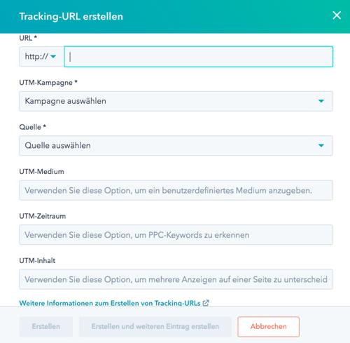 HubSpot Tracking URL generieren