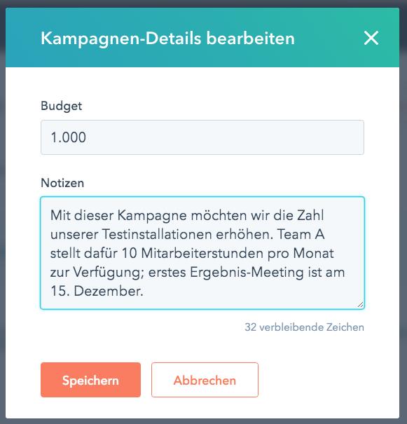 Inbound Marketing Kampagnen mit HubSpot: Budget festlegen