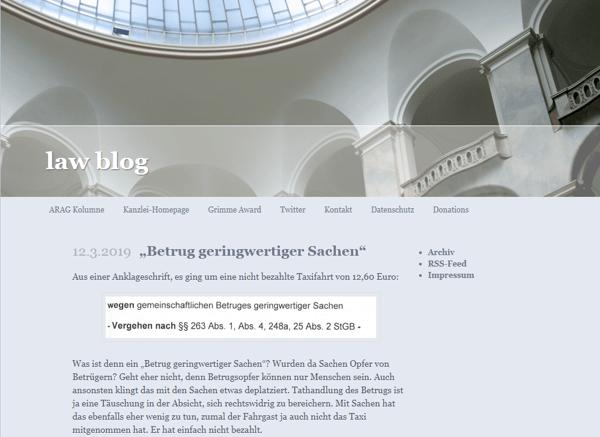 Lawblog Anwalt Udo Vetter