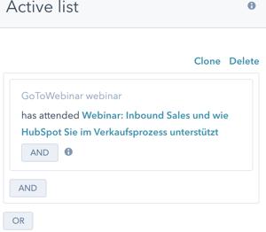 Listen HubSpot Webinar Segmentierung