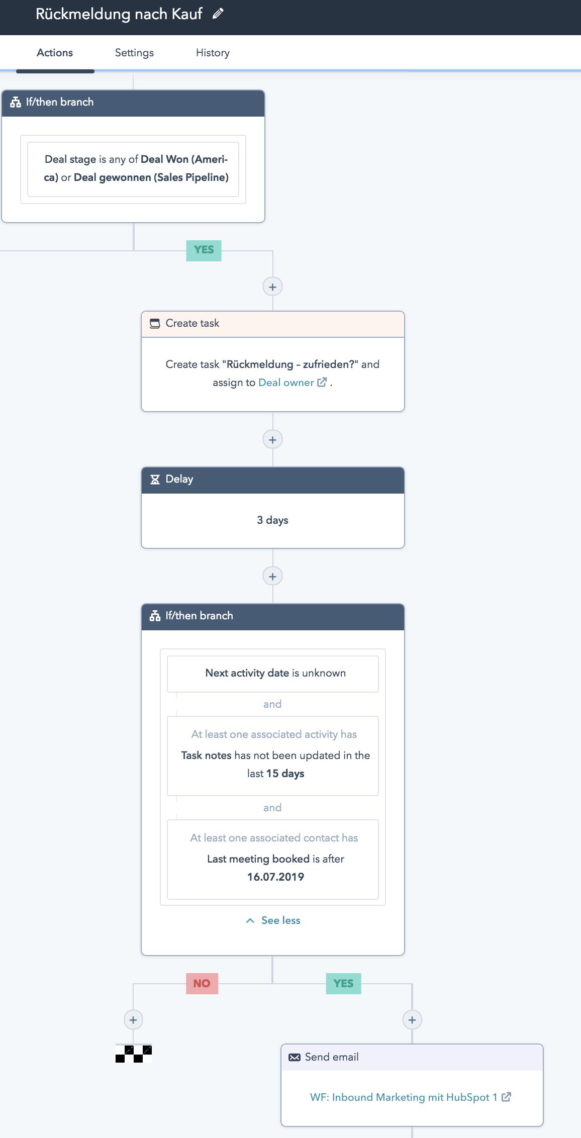Workflow nach Kauf