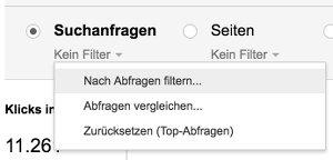 Search Console Screenshot - mögliche Longtail Keywords finden