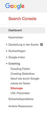 Sitemap mit der Search Console einreichen
