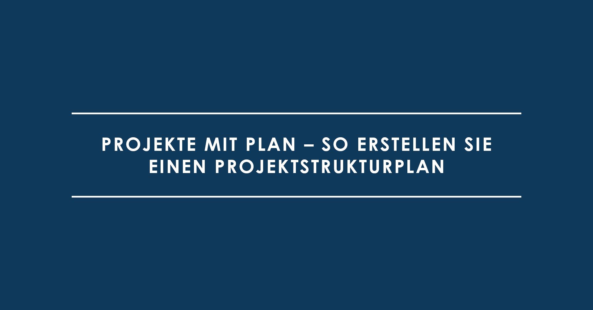 Projekte mit Plan – So erstellen Sie einen Projektstrukturplan